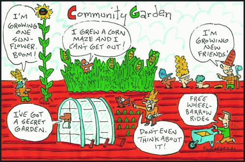 Independent-community garden