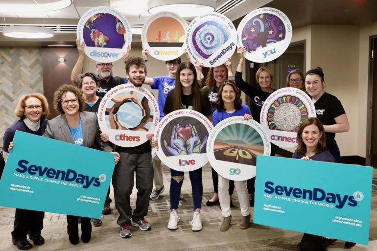 Cheers to Volunteers! – SevenDays-Make a Ripple, Change the World